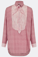 DRESS SHIRT IN RED CHECK AND STRIPE-menswear-A Child Of The Jago
