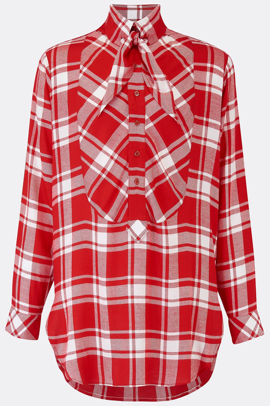 DRESS SHIRT IN RED CHECK-menswear-A Child Of The Jago