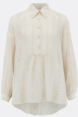 DRESS SHIRT IN WHITE AND GOLD SILK-womenswear-A Child Of The Jago