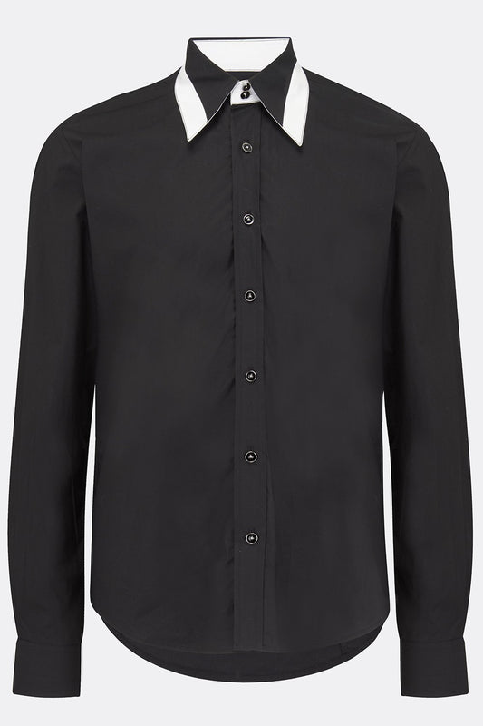 FLOYD SHIRT IN BLACK-menswear-A Child Of The Jago