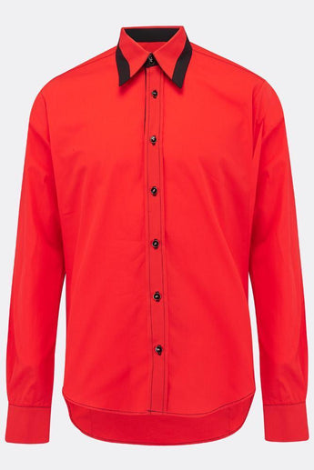 FLOYD SHIRT IN RED-menswear-A Child Of The Jago