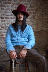 HENCHMAN JUMPER IN BLUE MOHAIR-menswear-A Child Of The Jago