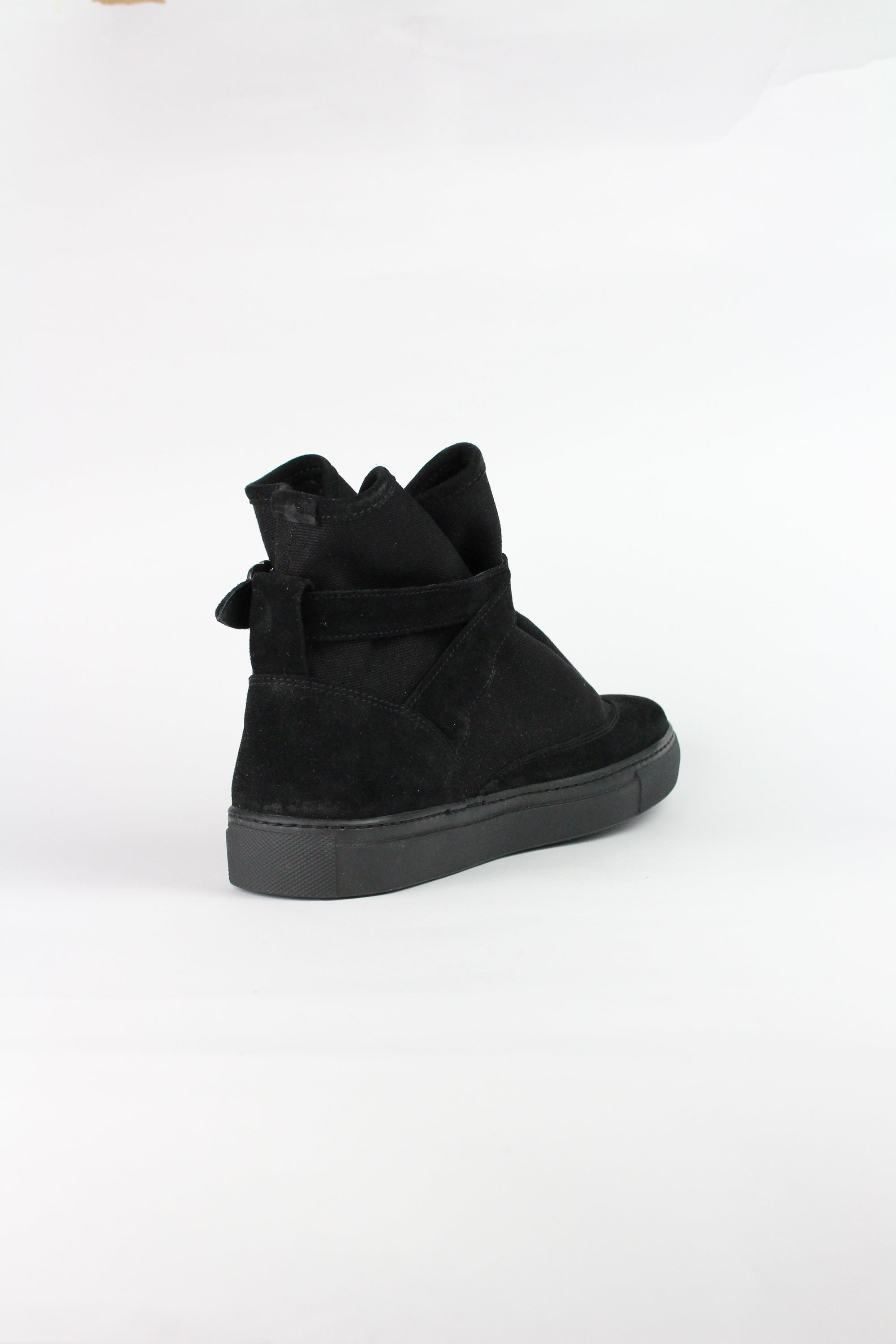 HIGHPAD SNEAKER BLACK CANVAS W/ SUEDE-shoes-A Child Of The Jago