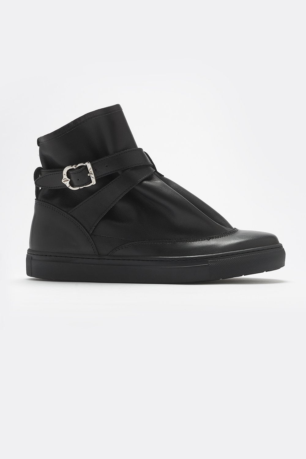 HIGHPAD SNEAKER BLACK LEATHER-shoes-A Child Of The Jago