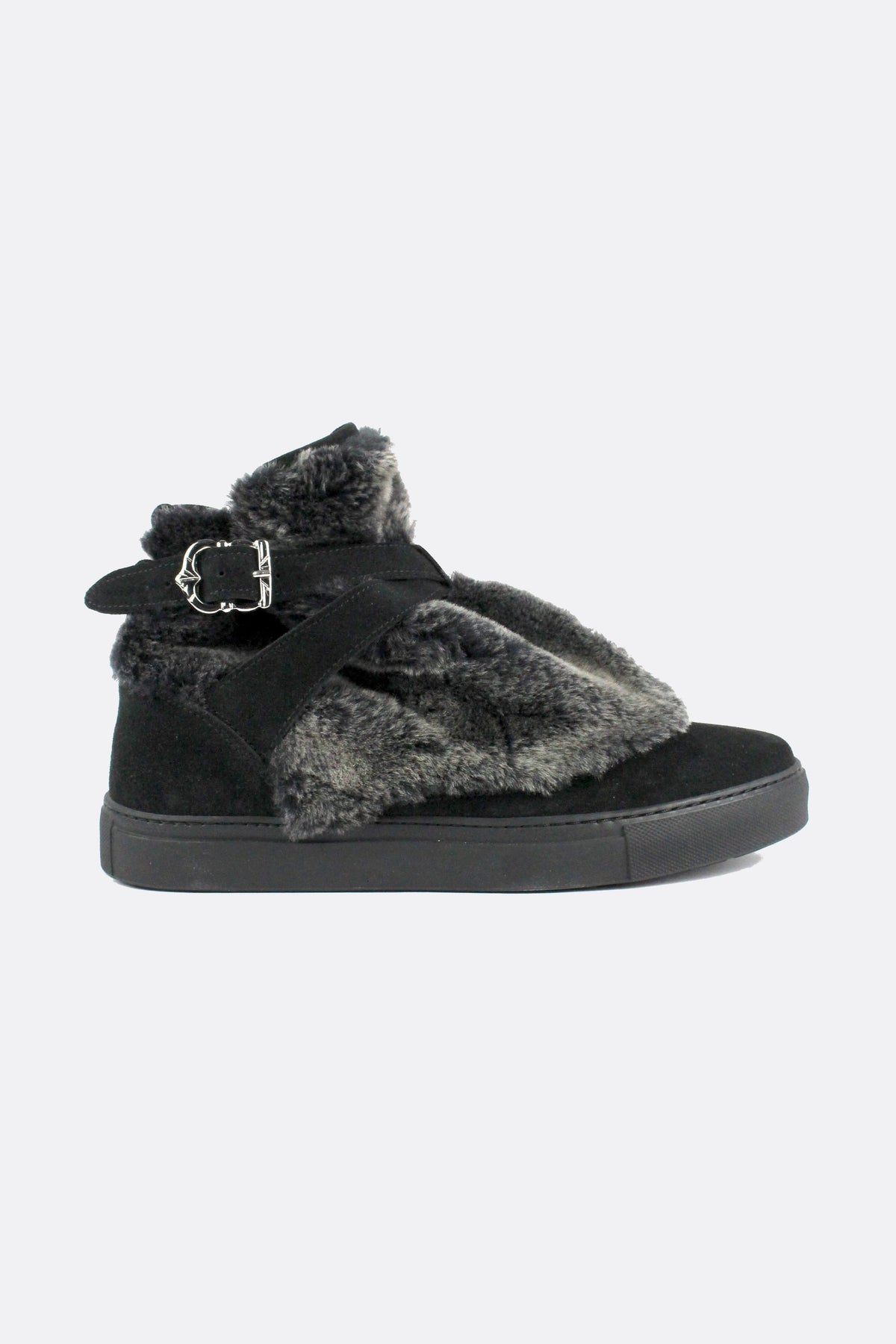 HIGHPAD SNEAKER FLUFFY BLACK SHEEPSKIN-shoes-A Child Of The Jago