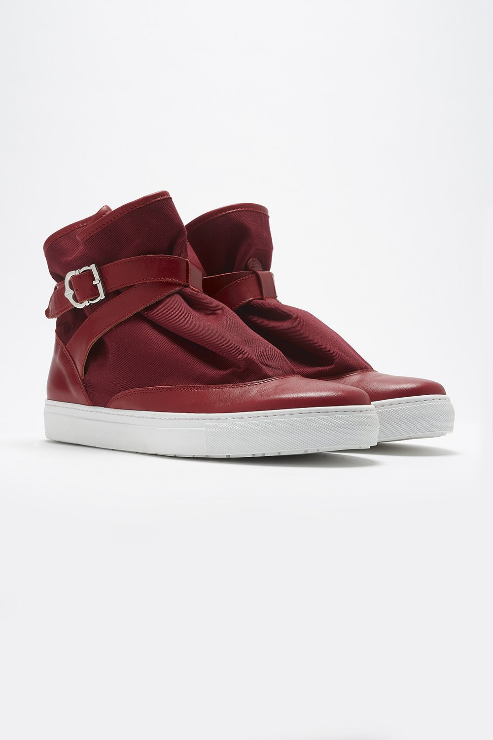 HIGHPAD SNEAKER RED CANVAS-shoes-A Child Of The Jago