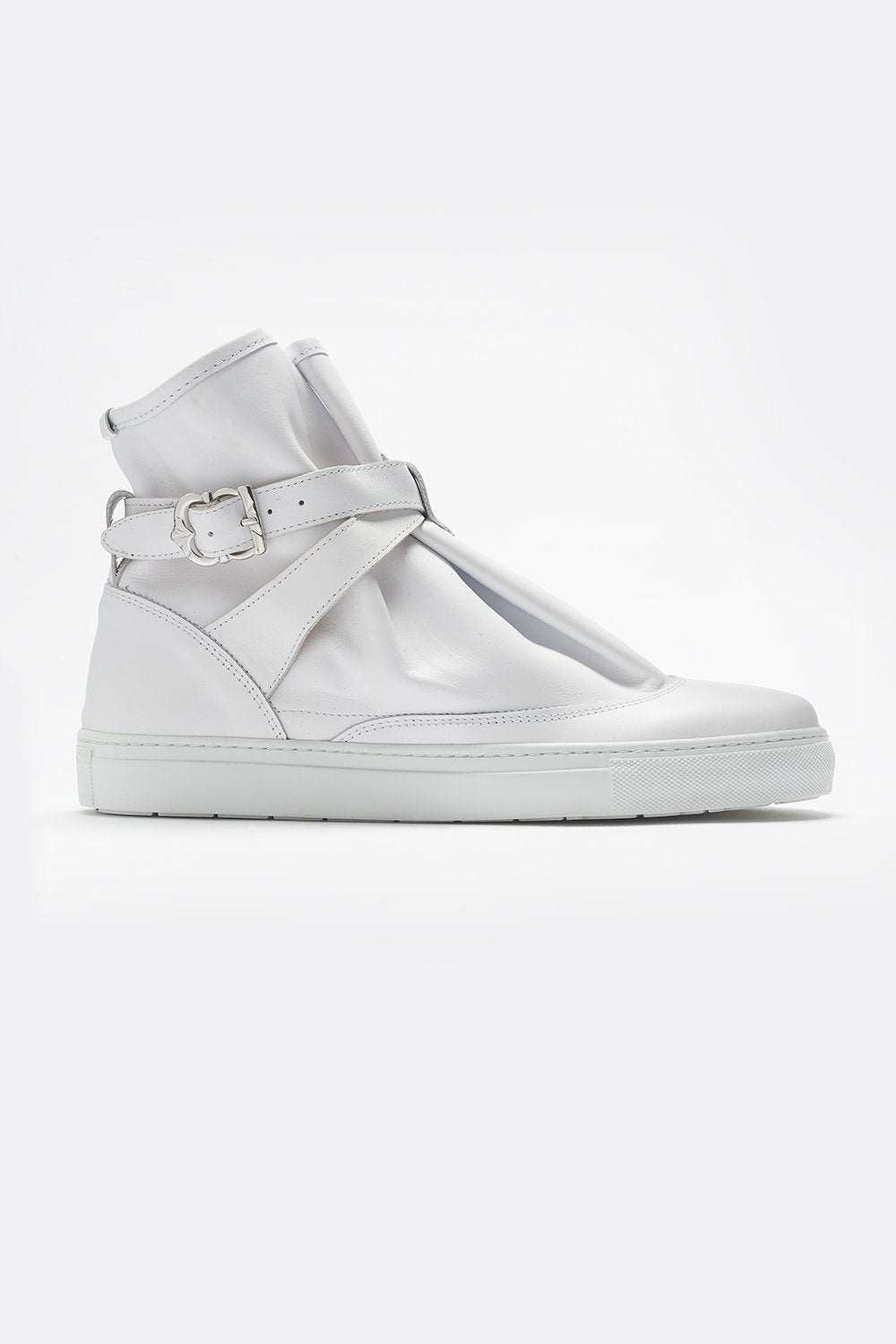 HIGHPAD SNEAKER WHITE LEATHER-shoes-A Child Of The Jago