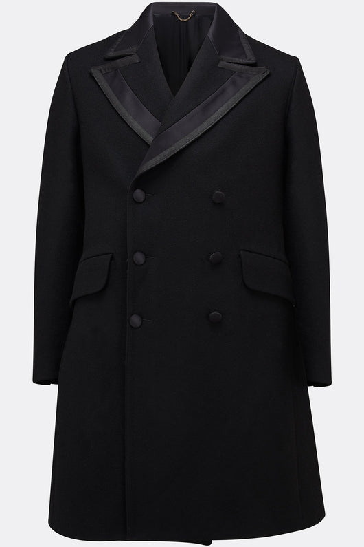 JACK FLASH COAT IN BLACK MELTON-menswear-A Child Of The Jago