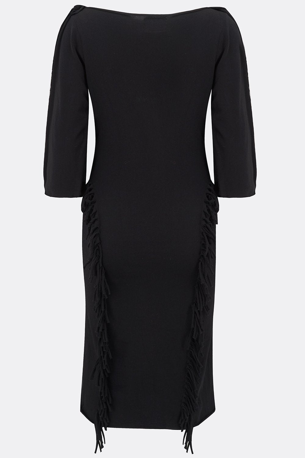 JOSEPHINE DRESS IN BLACK JERSEY-womenswear-A Child Of The Jago
