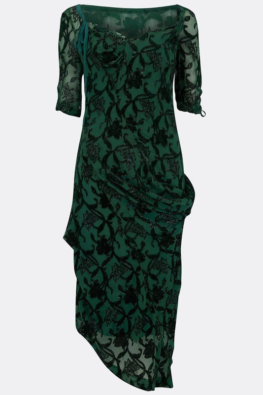 LAUDANUM SILK DRESS-womenswear-A Child Of The Jago