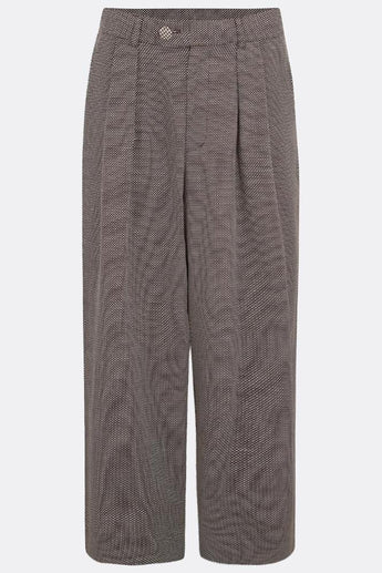LEYBOURNE CROPPED TROUSERS IN BROWN HATCHED-menswear-A Child Of The Jago