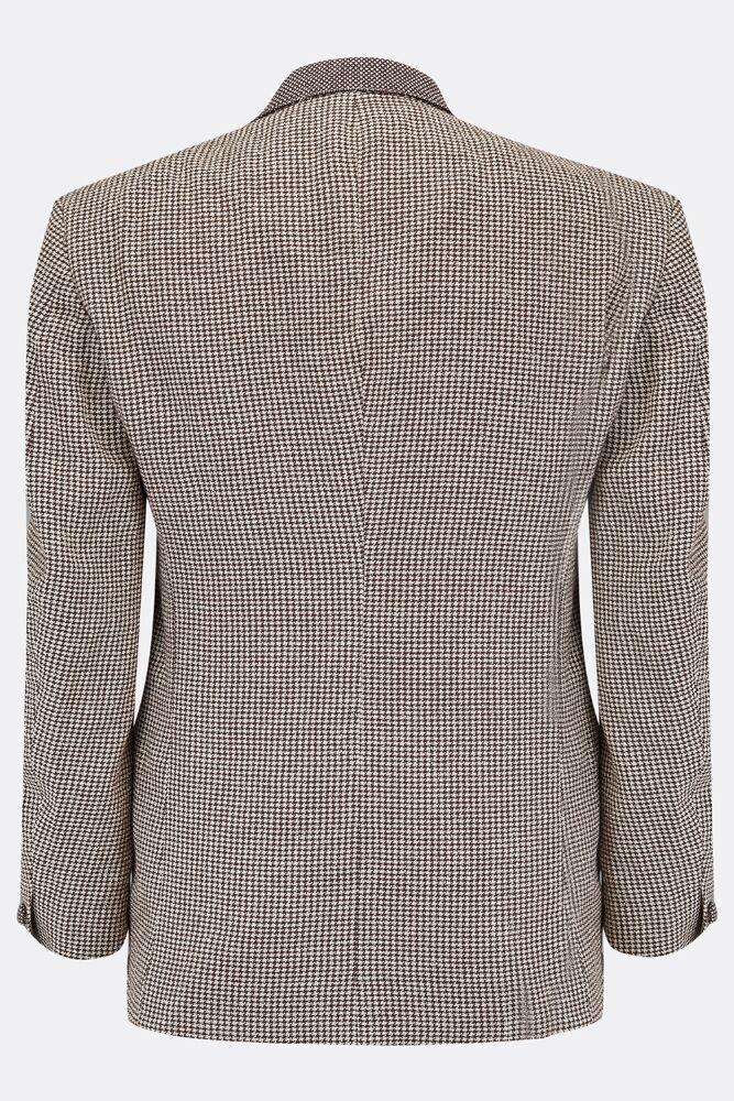 LEYBOURNE JACKET IN BROWN HOUNDSTOOTH-menswear-A Child Of The Jago