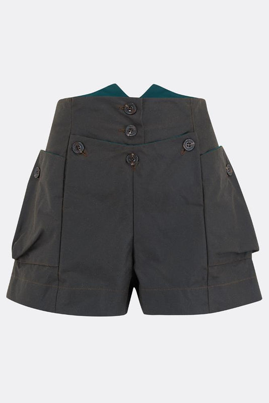 MAGWITCH SHORTS IN OLIVE-womenswear-A Child Of The Jago