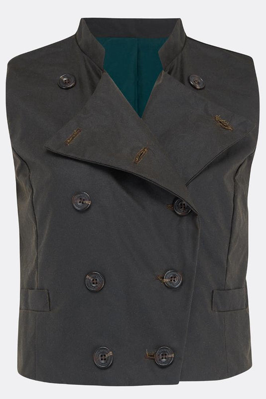 MAGWITCH WAISTCOAT IN OLIVE-womenswear-A Child Of The Jago