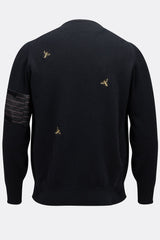 MULTI WASP JUMPER IN BLACK-menswear-A Child Of The Jago