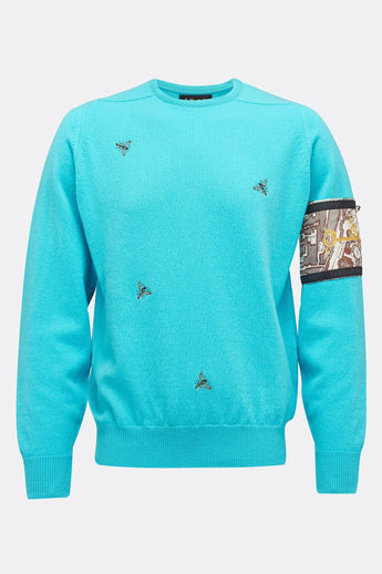 MULTI WASP JUMPER IN BLUE-menswear-A Child Of The Jago