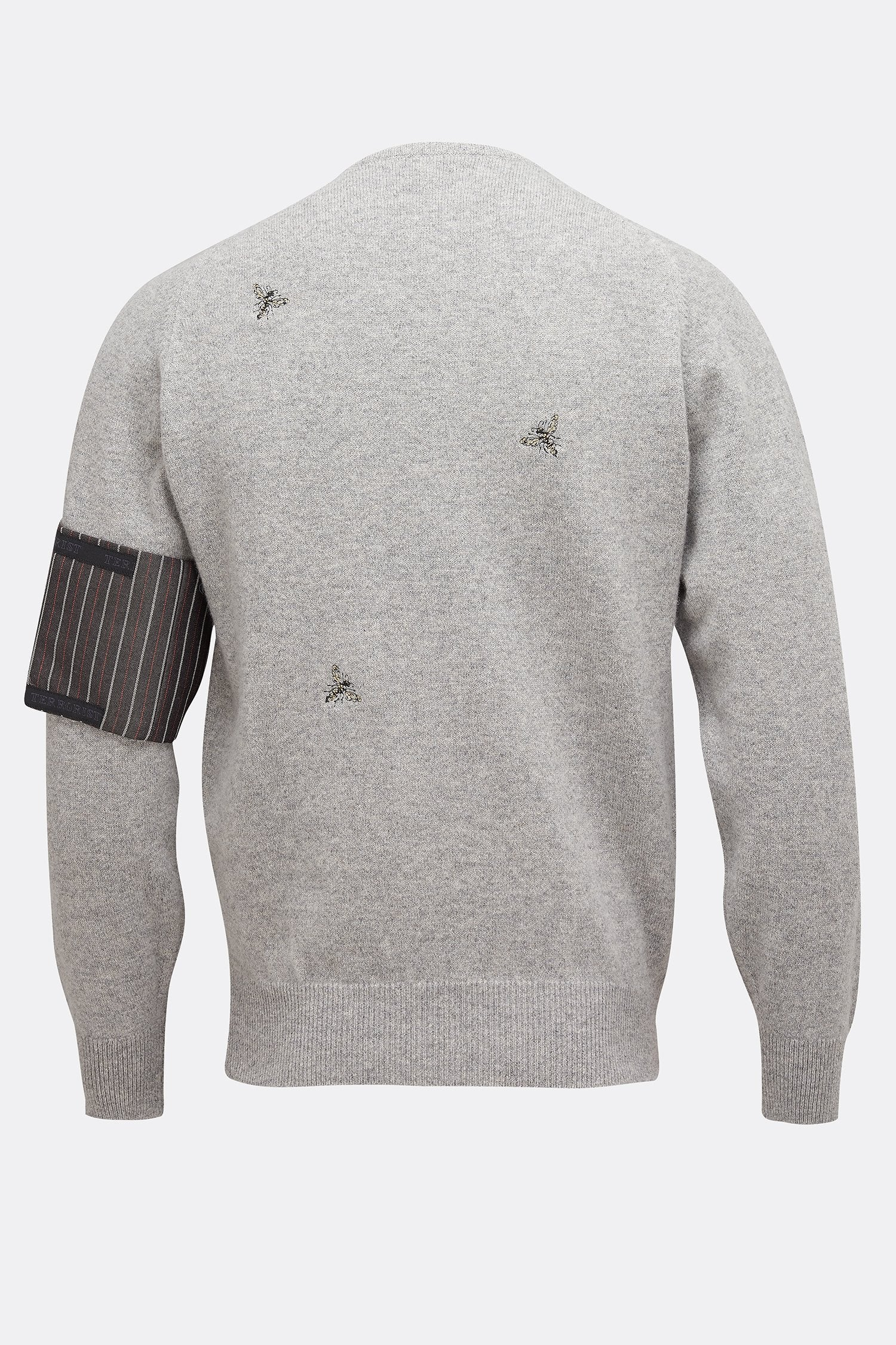 MULTI WASP JUMPER IN GREY-menswear-A Child Of The Jago
