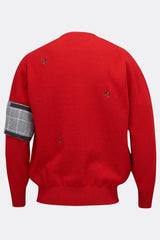 MULTI WASP JUMPER IN RED-menswear-A Child Of The Jago