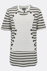 NAPOLEON COTTON JERSEY TEE SHIRT IN BLACK AND WHITE STRIPE-T shirts-A Child Of The Jago