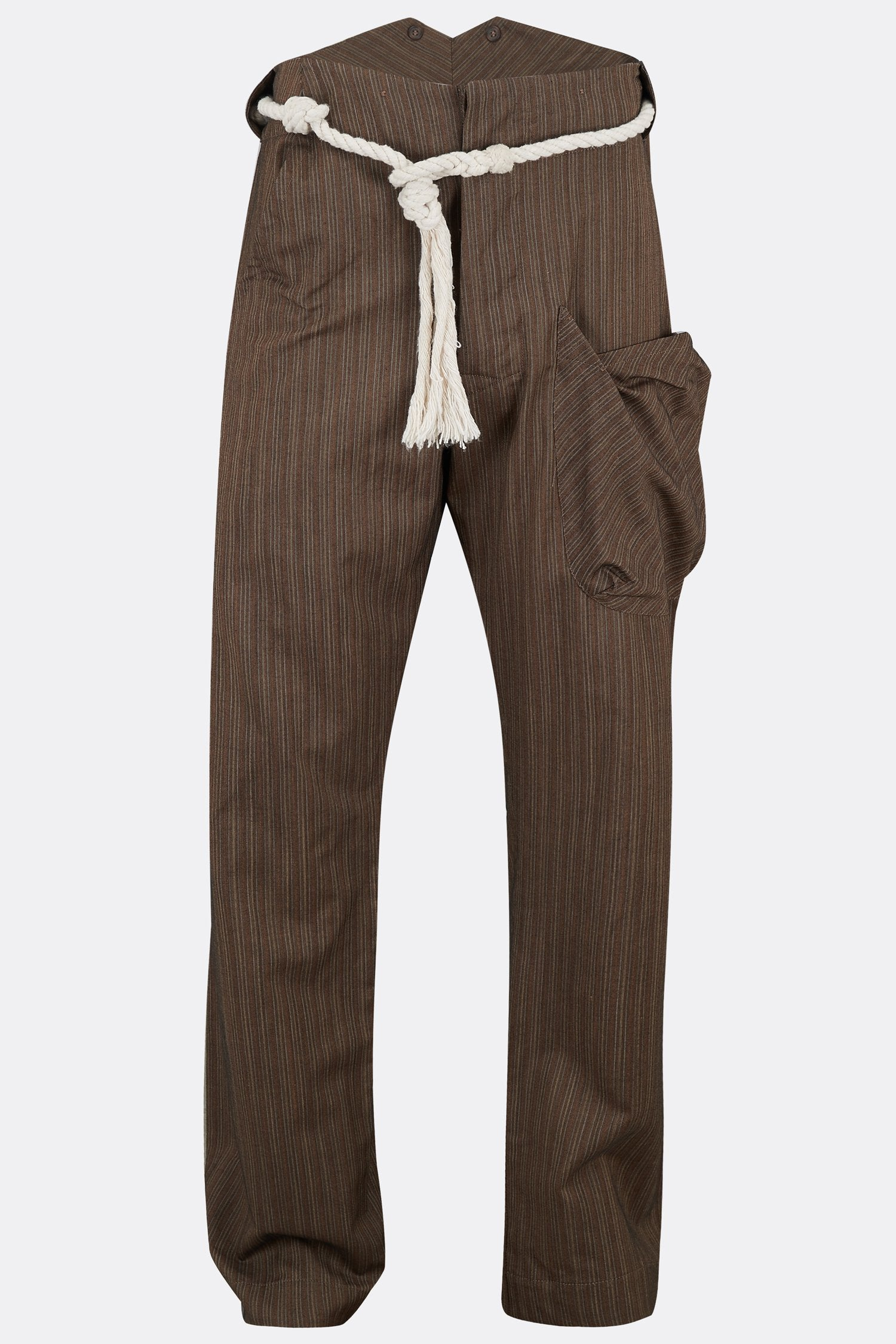 NAPPER TROUSERS IN HERRINGBONE STRIPE BROWN-menswear-A Child Of The Jago