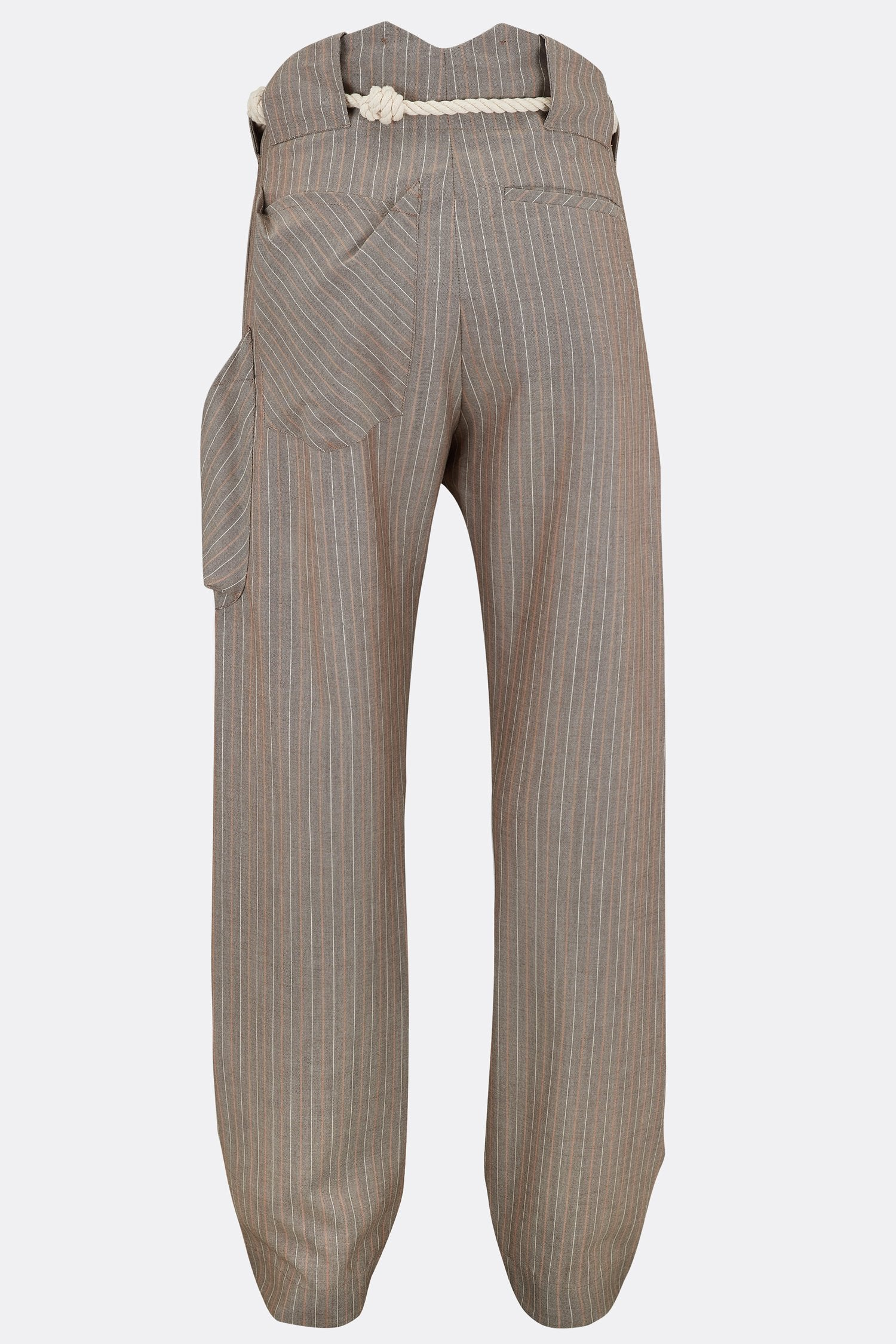 NAPPER TROUSERS LIGHT IN BROWN AND ORANGE STRIPE-menswear-A Child Of The Jago