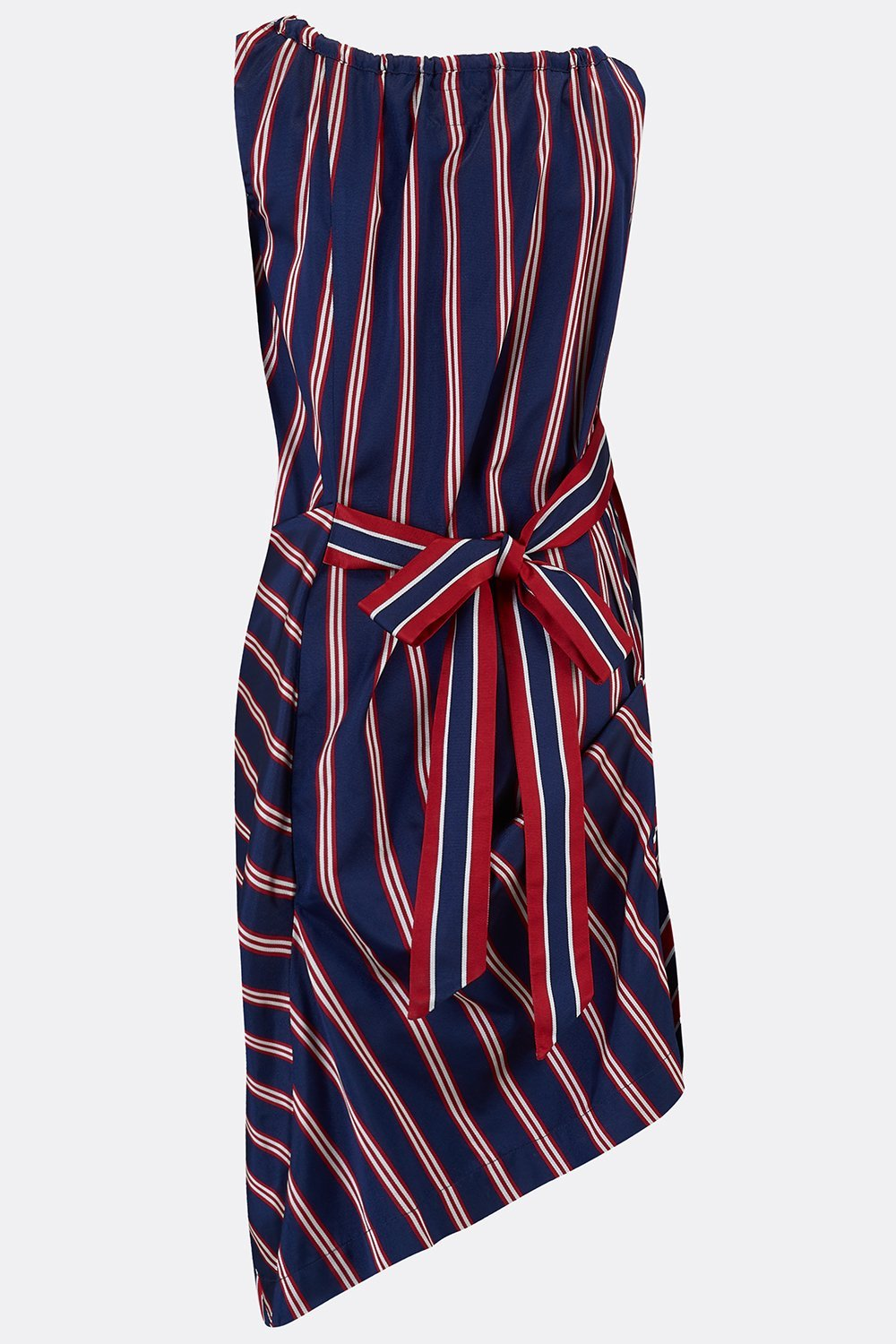 ROCHESTER SWAG DRESS IN NAVY STRIPE-womenswear-A Child Of The Jago