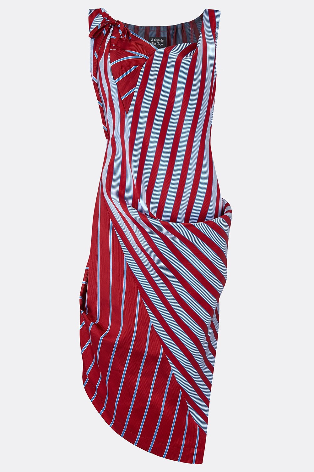 ROCHESTER SWAG DRESS IN RED STRIPE-womenswear-A Child Of The Jago