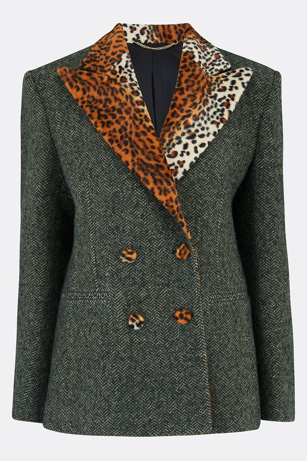 ROXANA JACKET IN HERRINGBONE TWEED-womenswear-A Child Of The Jago