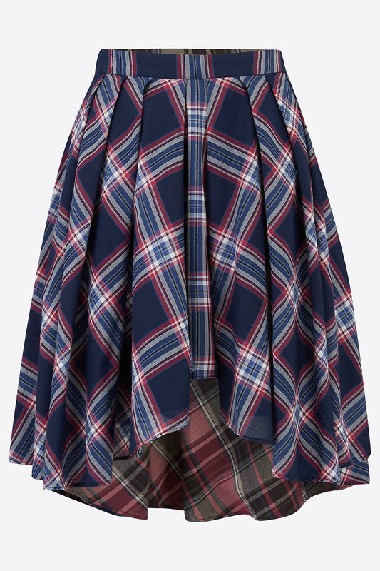 ROXANA SHORT SKIRT IN CHECK-womenswear-A Child Of The Jago