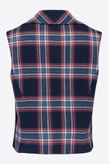 ROXANA WAISTCOAT IN CHECK-womenswear-A Child Of The Jago