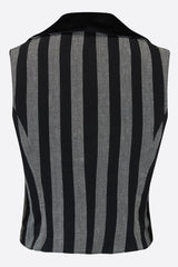 ROXANA WAISTCOAT IN STRIPE-womenswear-A Child Of The Jago
