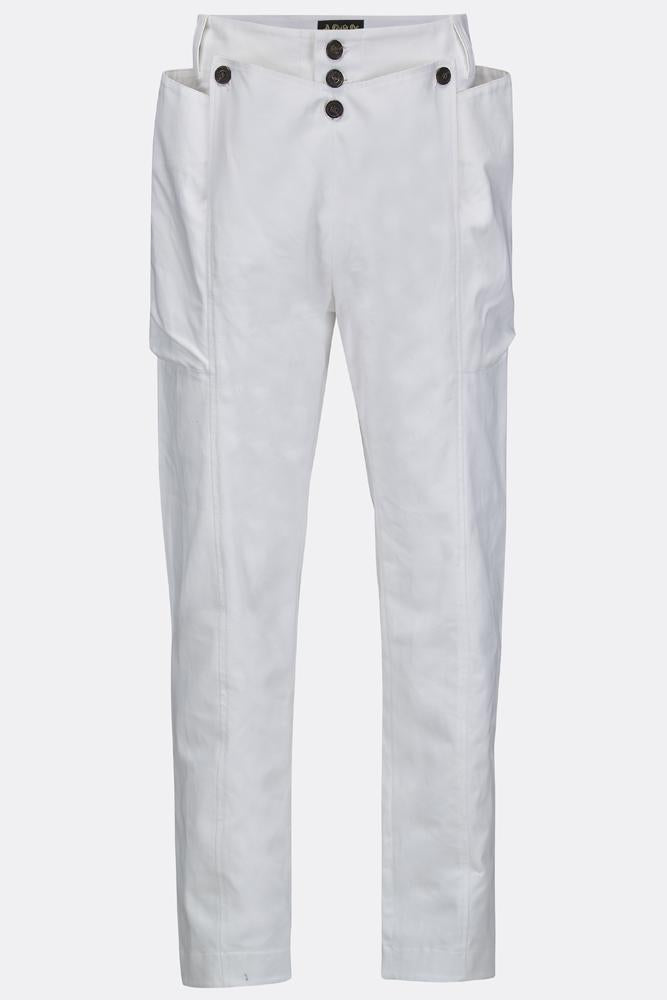 SEA DOG TROUSERS IN WHITE COTTON-menswear-A Child Of The Jago