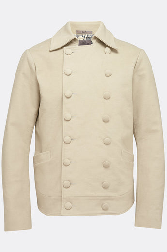 SHEPPARD JACKET IN STONE MOLESKIN-menswear-A Child Of The Jago