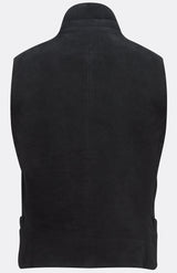 SHEPPARD WAISTCOAT IN BLACK MOLESKIN-menswear-A Child Of The Jago