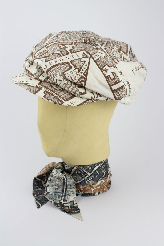 SMALL BAKER BOY HAT IN BOUNDARY PRINT-hats-A Child Of The Jago