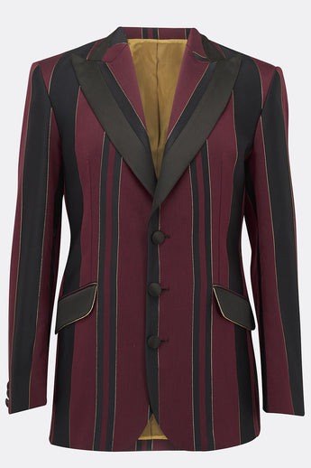 SOHO JACKET IN RED AND GOLD STRIPE-menswear-A Child Of The Jago