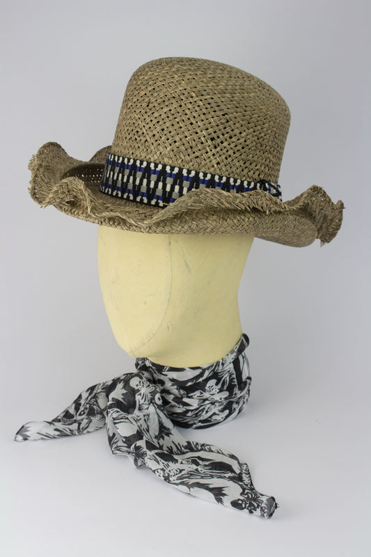 95f0a7ed3bf ... STRAW CHAMPION HAT W  AZTEC AND NAVAJO BANDS IN VARIOUS COLOURS-hats-A  ...