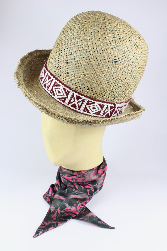 db76a2c0f60 STRAW WILD BILL HAT W  NAVAJO AND AZTEC BANDS IN VARIOUS COLOURS-hats- ...