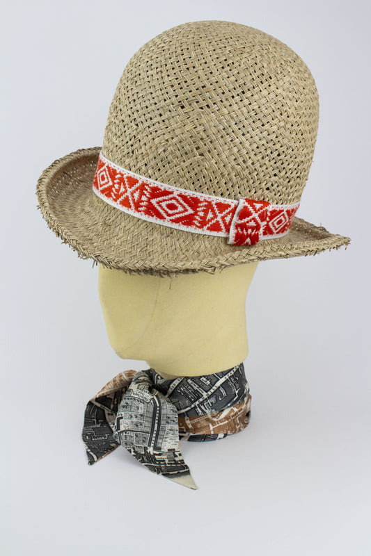 8b4b23b7cd6 ... STRAW WILD BILL HAT W  NAVAJO AND AZTEC BANDS IN VARIOUS COLOURS-hats-  ...