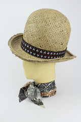 STRAW WILD BILL HAT W/ NAVAJO AND AZTEC BANDS IN VARIOUS COLOURS-hats-A Child Of The Jago