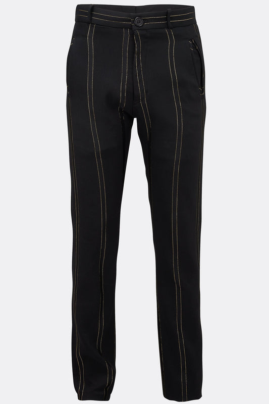 SWAG DRAINPIPE TROUSERS IN GOLD STRIPE-menswear-A Child Of The Jago