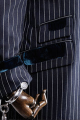 SWAG JACKET IN NAVY ROPE STRIPE-menswear-A Child Of The Jago