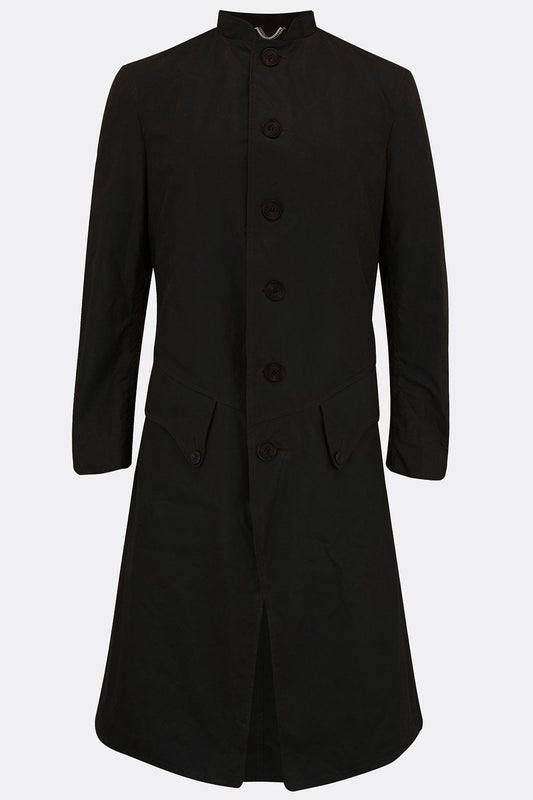 TEACH COAT IN BLACK WAXED COTTON-menswear-A Child Of The Jago