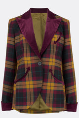 TEDDY JACKET IN MACMILLAN TARTAN-womenswear-A Child Of The Jago
