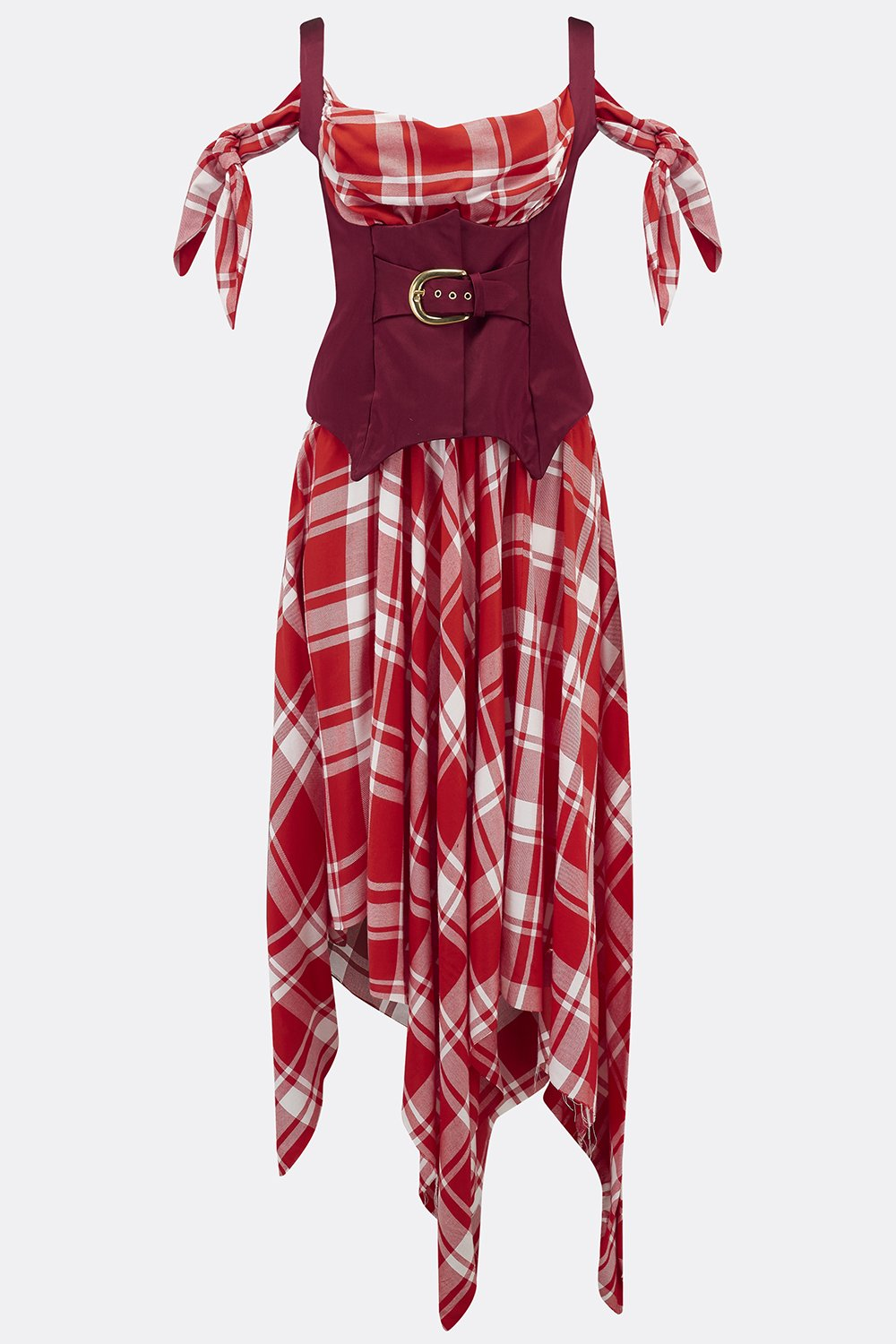TORTUGA DRESS IN RED CHECK-womenswear-A Child Of The Jago