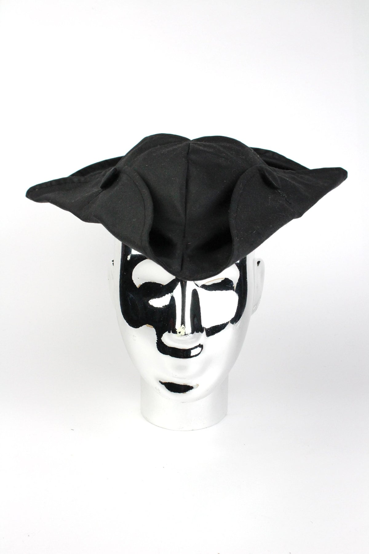 TRICORNE - BLACK WAXED-hats-A Child Of The Jago