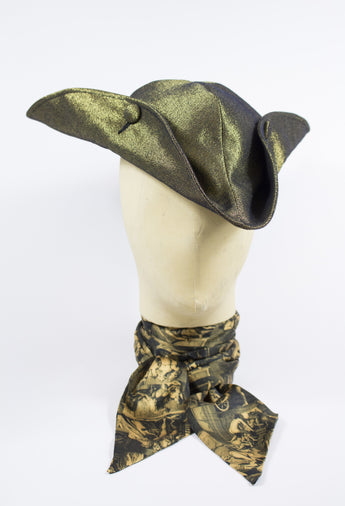 TRICORNE HAT IN GOLD DENIM-hats-A Child Of The Jago