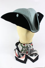 TRICORNE HAT IN MELTON IN VARIOUS COLOURS-hats-A Child Of The Jago