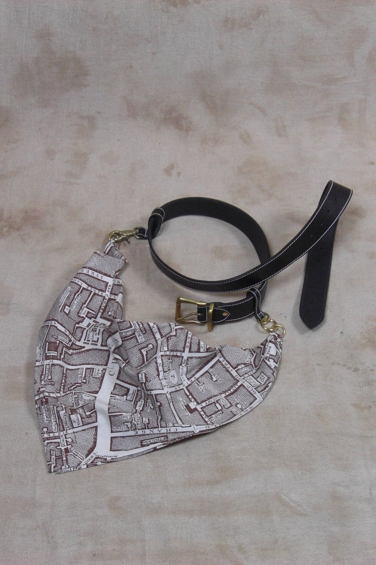 TURNKEY BELT IN BLACK LEATHER AND LANYARD-accessories-A Child Of The Jago