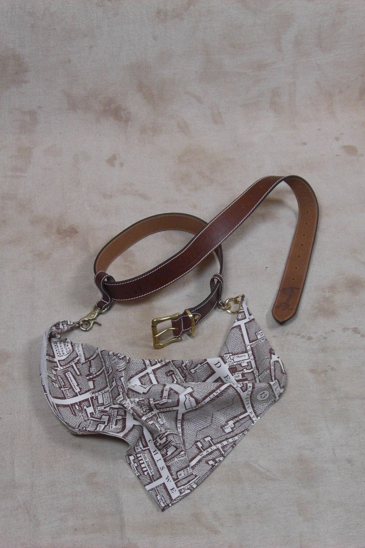 TURNKEY BELT IN BROWN LEATHER AND LANYARD-accessories-A Child Of The Jago